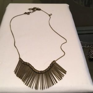 Funky gold tone choker necklace